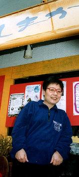 風まかせ人まかせの前で 松井さん
