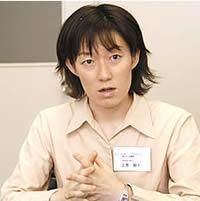 病院内での「夫の集い」を担当するソーシャルワーカーの三芳朋子さん