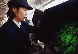 レーダーを見る懸田さん