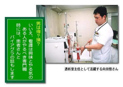 透析室主任として活躍する看護士 向田 悟さん