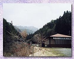 大峰山系を望む写真